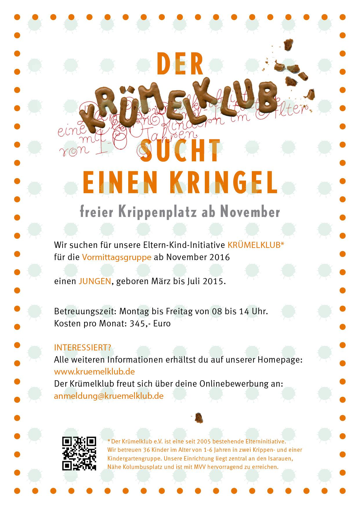 Krümelklub sucht Kringel
